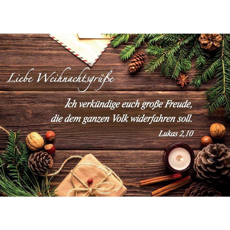 Weihnachtsgrüße Postkarte.Ihremedien Christliche Versandbuchhandlung